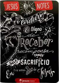 Caderno de Anotacoes de Sermoes Jesus Copy Lettering