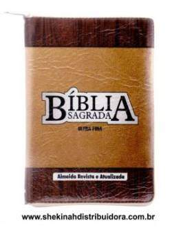 Biblia Sagrada Modelo Ultra Fina Marrom/Caramelo RA (Preco Exclusivo e Imbativel)